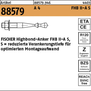 1.885790.0.946 - ART 88579  FISCHER Highbond-Anker FHB II-A S, A4